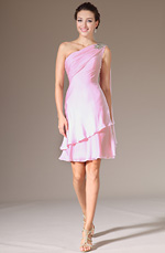 eDressit 2014 New Pink Beaded One-Shoulder Short Party Dress (04141401)