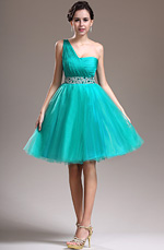 eDressit New Delicate Beads One Shoulder Green Cocktail Dress Party Dress (04134704)