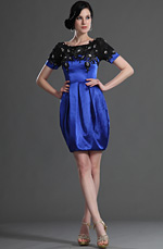 eDressit Glamorous Manches courtes Bleu Robe de Cocktail (26125405)
