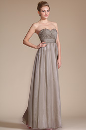 Strapless Beaded Sweetheart Evening Dress Bridesmaid Dress (C36141808)