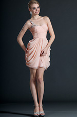 eDressit Sweety One Shoulder Pink Cocktail Dress Party Dress (04123201)