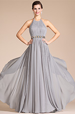 Carlyna 2014 New Grey Halter Style Evening Dress (C00142008)