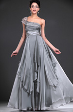 eDressit New Glamouring One shoulder Grey Evening Dress (00118208)