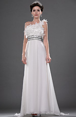 eDressit Elegant White One Shoulder Wedding Dress (01111107)