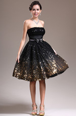 eDressit New Strapless Black Cocktail Dress Party Dress (04135100)