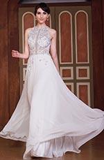 A-Linie Halter Perlen Top Sexy öffnen Rücken Brautkleid Gown (C36144007)