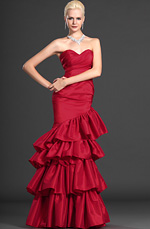 eDressit Celebrity Red Strapless Sweerheart Evening Gown (00109602)