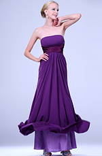 eDressit  New Purple Strapless Full Length Evening Dress (00109306)