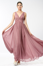 eDressit Elegant plunging V-cut neckline and back Dress (00098001)