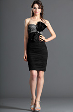 Clearance Sale ! Strapless Shiny Beadings Cocktail Dress Party Dress (04120501B)