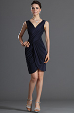 eDressit Gorgeous Dark Blue Party Dress Day Dress (03120305)