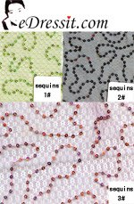 eDressit Sequins Fabric