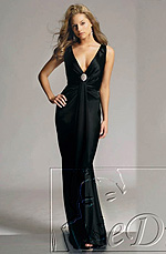 eDressit On Sale Black V-cut Evening Dress (00776000)