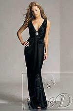 eDressit On Sale Black V-cut Evening Dress (00776000)