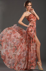 eDressit New Printed Glorious Ruched Bodice Multi-color Evening Dress (00120568)