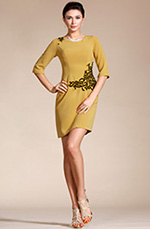 Carlyna 2014 New Round Neck Mother of the Bride Dress/Day Dress (C35141403)