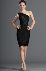 eDressit Fabulous Little Black One Shoulder Cocktail Dress Party Dress (03120500)