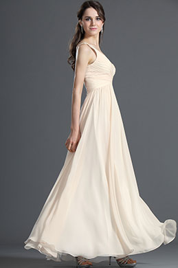 eDressit Elegant V-cut Beige Evening Dress Party Dress (00120814)