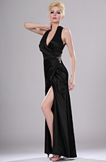 eDressit Sexy Black V-neck Evening Dress (00114600)
