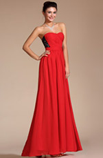 Carlyna 2014 New Gorgeous Lace Strapless Evening Dress (C00135702)