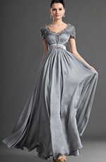 eDressit Dress V-Cut Neckline Sleeve Mother of the Bride Dress (26124508)