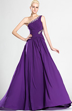 eDressit Fabulous Purple One Shoulder Evening Dress (00123506)