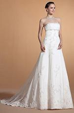 Carlyna 2014 Neu Trägerlos Perlen Empire Taile Hochzeitskleid(C37145907)