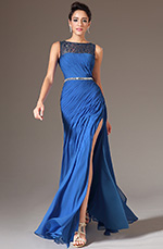 eDressit 2014 New Blue Sequined Lace Top High-Slit Evening Gown(00143105)