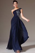 eDressit 2014 New Dark Blue One-Shoulder Formal Dress (00142905)