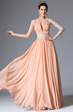 eDressit 2014 Nouveauté Rose Perles Dentelle Robe de Soirée/Bal (00147801)