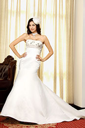 eDressit  White Beaded Wedding Gown (01092307)