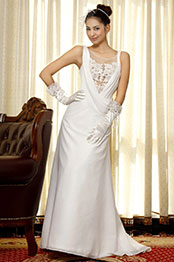 eDressit  White Beaded Wedding Gown (01092807)