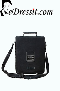 eDressit Leather Men's Messenger Shoulder Bag Briefcase (08080100)