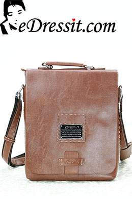 eDressit Leather Men's Messenger Shoulder Bag Briefcase (08080109)