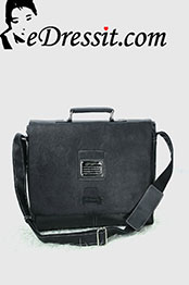 eDressit Leather Men's Messenger Shoulder Bag Briefcase (08080200)