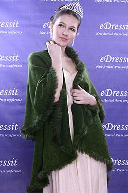 eDressit Verde Chal/Bolero(14090204)