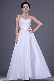eDressit New Strapless Wedding Gown with Satin Rose Belt (01110207)