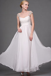 eDressit Elegant White Beaded Evening Dress Gown (00111407)