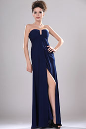 eDressit New Strapless U-neckline Evening Dress with Split (00113805)