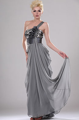 eDressit Shimmering One Shoulder Evening Dress with Sequins (00114708)
