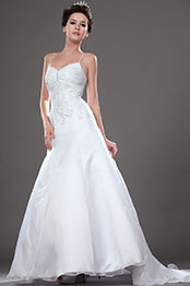 eDressit New Attractive Fitted Wedding Gown with Spaghetti Straps (01110707)