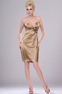 eDressit  Sexy Gold Strapless Party Dress (04111914)
