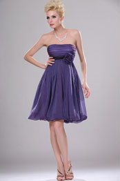 eDressit Strapless Cocktail Dress with Flower (04113706)