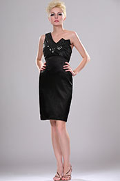 eDressit New Little Black One Shoulder Party Dress with Sequins (04114100)