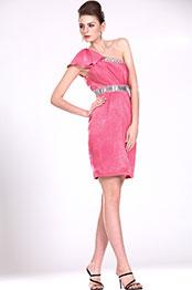 eDressit New Adoral Pink One Shoulder Party Dress (04116301)