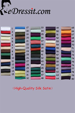 eDressit High Quality Silk Satin Tableau de Couleurs (23666601)