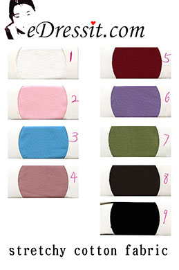 eDressit эластичные хлопок ткани    цветовая диаграмма (60100102A)