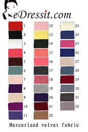 eDressit Mercerized Velvet Color Chart (60100103A)