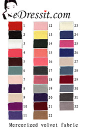eDressit мерсеризованные бахратные ткани цветовая диаграмма (60100103A)