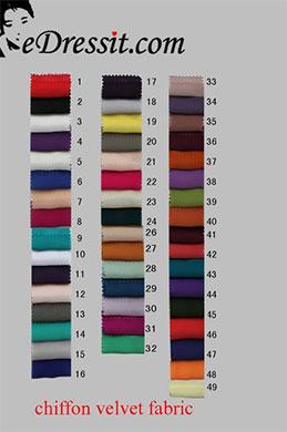 eDressit шифоновые бархатные ткани цветовая диаграмма (63100101A)